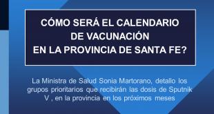 Calendario de vacunación en la provincia de Santa Fe